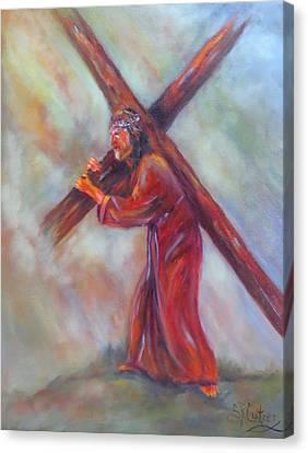 Jesus, Before The Darkest Hour, Canvas Print by Sandra Cutrer