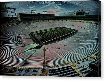 Before The Game At Lambeau Canvas Print by Lawrence Christopher