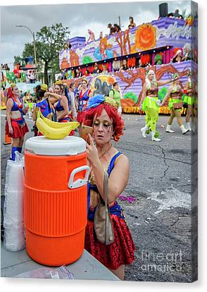 Canvas Print - Before The Krewe Of Boo Parade by Kathleen K Parker