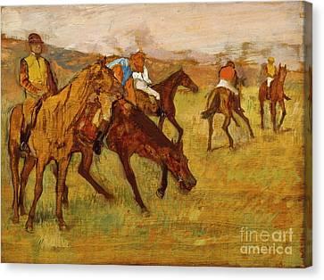 Before The Race, Edgar Degas, Maximum Digital Resolution Canvas Print