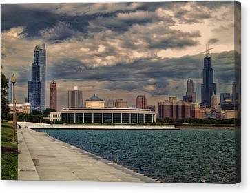 Before The Spring Storm Chicago Shedd Aquarium Eastside 01 B Canvas Print by Thomas Woolworth