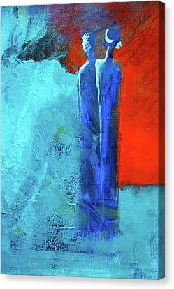 Canvas Print featuring the painting Before The Wedding by Nancy Merkle