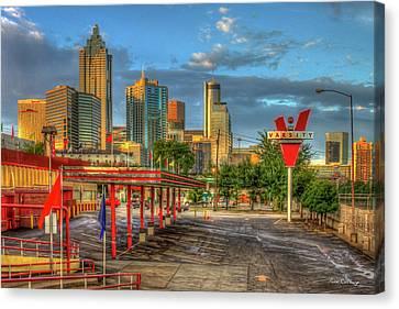 Fast Food Canvas Print - Before What'll You Have The Varsity Dawn Atlanta Landmark Art by Reid Callaway