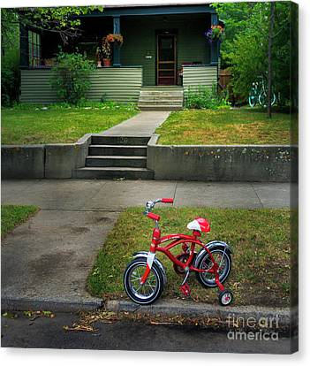 Canvas Print featuring the photograph Beginners Bicycle by Craig J Satterlee