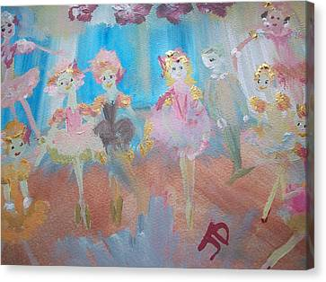 Beginners On Stage Canvas Print by Judith Desrosiers