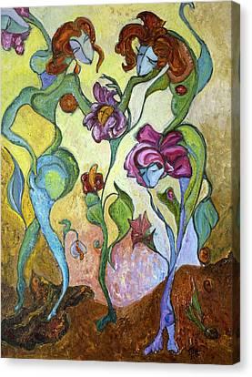 Beginning Canvas Print by Mila Ryk