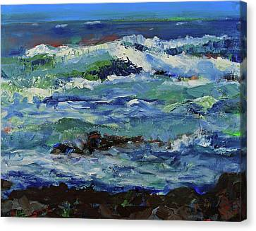 Canvas Print featuring the painting Beginning Of A Storm by Walter Fahmy