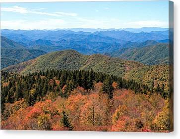 Beginning Of Autumn On The Blue Ridge Canvas Print