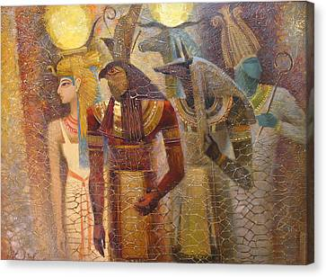 Beginnings. Gods Of Ancient Egypt Canvas Print