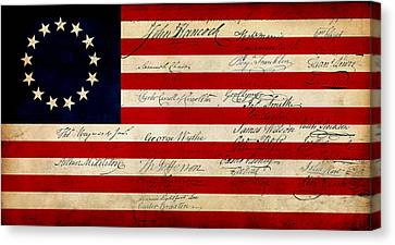 1776 Canvas Print by WD Senamontri