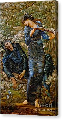 The Beguiling Of Merlin Canvas Print - Beguiling Merlin 1873 by Padre Art