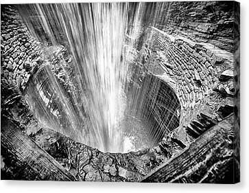 Behind Cavern Cascade Canvas Print by Stephen Stookey
