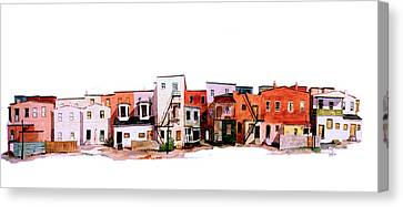 Behind Fourth Street Canvas Print