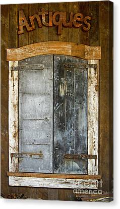 Behind The Doors Antique Store Highland Nc Art Great Smokey Mountains Art Canvas Print