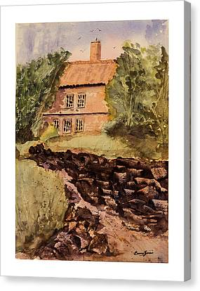 Behind The House Canvas Print by Barry Jones