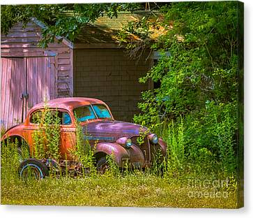 Behind The Old Barn Canvas Print