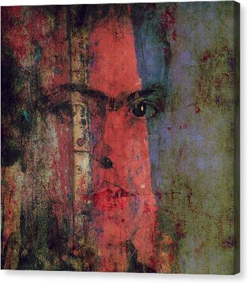 Behind The Painted Smile Canvas Print by Paul Lovering