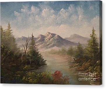 Behind The Pines  Canvas Print