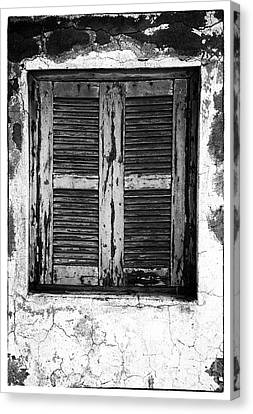 Behind The Shutter Canvas Print by John Rizzuto