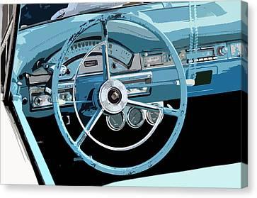 Behind The Wheel Canvas Print by David Lee Thompson