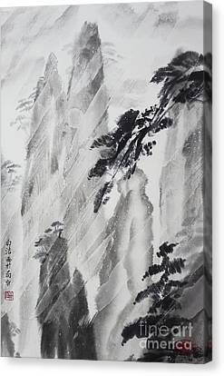 Behind The Window Canvas Print by Birgit Moldenhauer