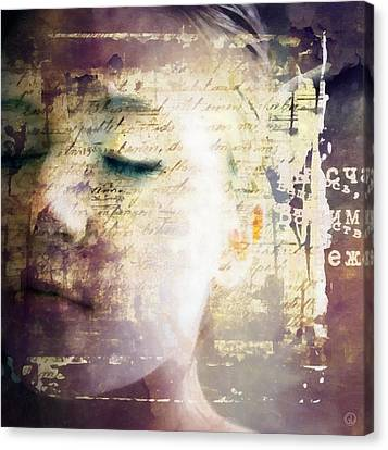 Canvas Print featuring the digital art Behind The Words by Gun Legler
