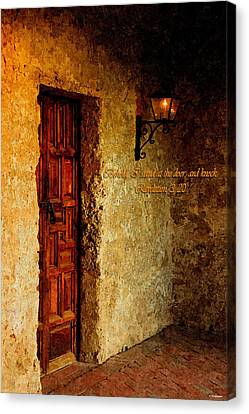 Behold I Stand At The Door And Knock Canvas Print