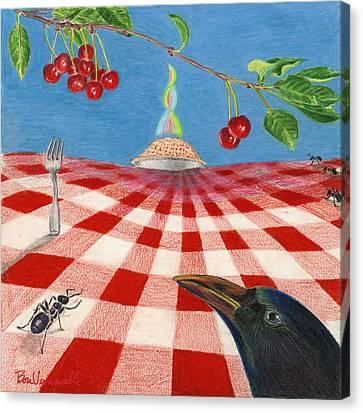 Behold Pie Canvas Print by Bon Vernarelli