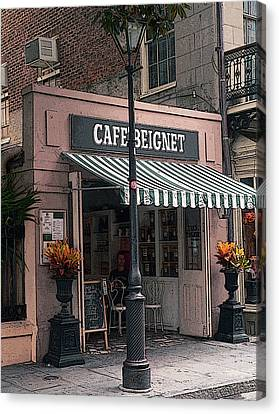 Beignets Not At Cafe Du Monde Canvas Print by David Bearden