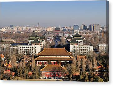 Beijing Canvas Print - Beijing Central Axis Skyline, China by Huang Xin