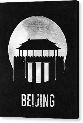 Beijing Canvas Print - Beijing Landmark Black by Naxart Studio