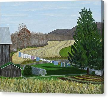 Beiler's View Of Egg Hill Canvas Print