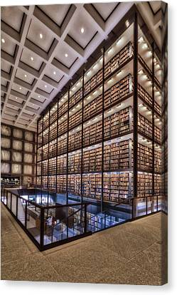 Self-knowledge Canvas Print - Beinecke Rare Book And Manuscript Library by Susan Candelario