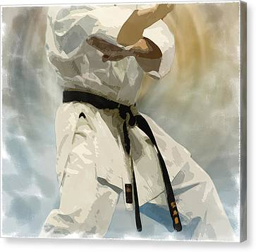 Being A Black Belt Canvas Print by Deborah Lee