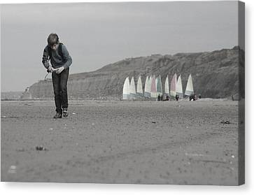 Being A Boy Canvas Print by Jez C Self