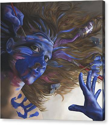 Being Art Canvas Print by Katherine Huck Fernie Howard