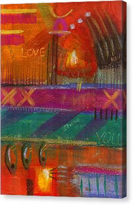 Canvas Print featuring the painting Being In Love by Angela L Walker