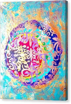 Beingness Emergence From The Black Hole Canvas Print by Rizwana Mundewadi