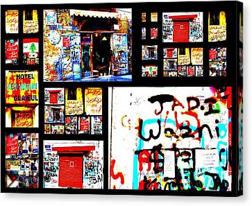 Beirut Colorful Walls  Canvas Print by Funkpix Photo Hunter