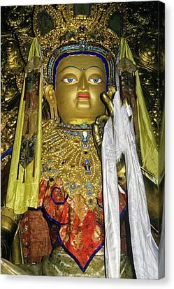 Bejeweled Buddha Canvas Print by Michele Burgess