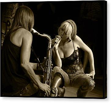 Canvas Print featuring the photograph Bekka And Deanne by Jim Mathis