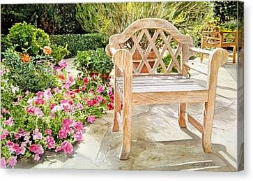 Bel-air Bench Canvas Print by David Lloyd Glover