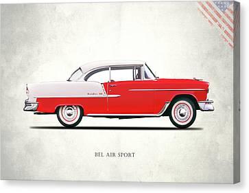 Bel Air Sport 1955 Canvas Print by Mark Rogan
