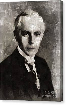 Bela Bartok, Composer By Mary Bassett Canvas Print by Mary Bassett
