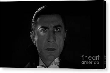 Bela Lugosi  Dracula 1931 And His Piercing Eyes Canvas Print by R Muirhead Art