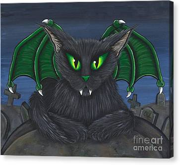 Bela Vampire Cat Canvas Print by Carrie Hawks