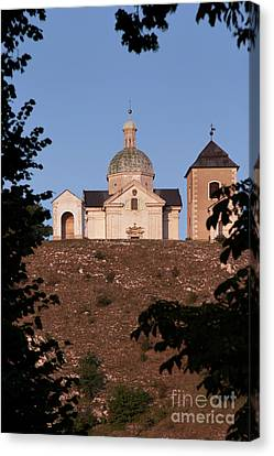Canvas Print featuring the photograph Belfry And Chapel Of Saint Sebastian by Michal Boubin