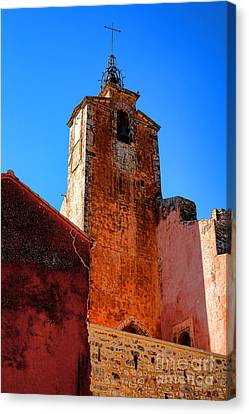 Canvas Print featuring the photograph Belfry In Provence by Olivier Le Queinec