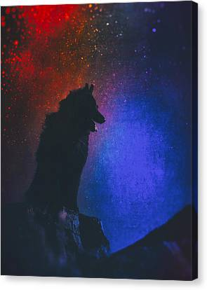 Working Dog Canvas Print - Belgian Sheepdog Art 2 by Wolf Shadow  Photography