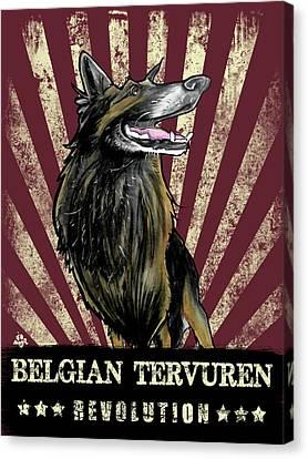 Canvas Print - Belgian Tervuren Revolution by John LaFree